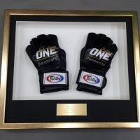 boxing glove memorabilia frame