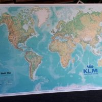 World Map Frame KLM