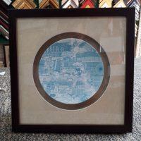 Blue Plate 3D Frame